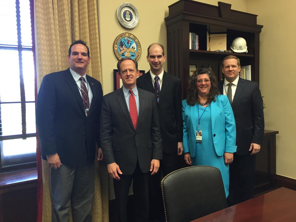 We're on Capitol Hill today advocating for music and arts education. Pictured here are A.J. Reitz from Korg USA, Senator Pat Toomey, Progressive Music Director of Market Development Mark Despotakis, Beth Schiemer from Brighton Music Center and John McElroy from Martin Guitar.